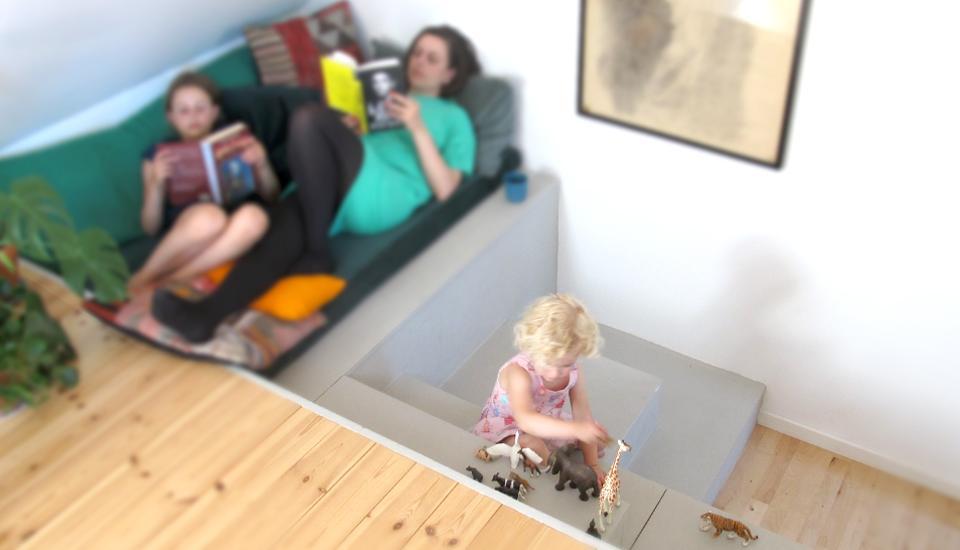 multimøblet er designet, så der er plads til flere forskellige aktiviteter på én gang