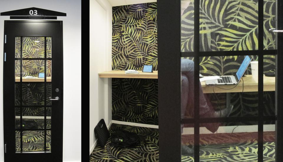 """""""Telefonbox"""" privat rum til det virtuelle møde"""