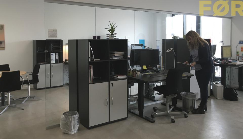 Anonymt og individualistisk indrettet arbejdsrum