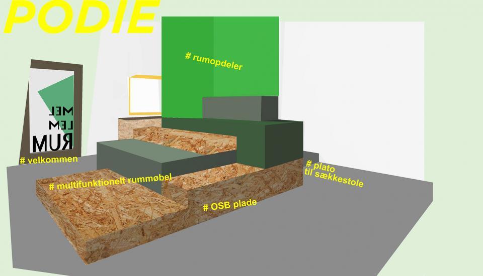 Rummøbel til ophold og samling